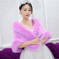 Women Bat Sleeve Faux Fur Gilet Rabbit Fur Poncho Cloak Faux Fox Fur Cape Mink Fur Coat Bride Wedding Shawl