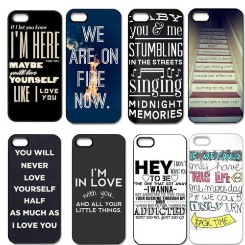 check out ed9d0 cd5a3 Free Shipping Best Design One Direction Quotes Plastic Back Cover ...