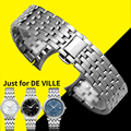 Solid Stainless Steel Watchband 20mm Watch Bracelet for Omega De VILLE Series Watch Band Man Size Silver Watch Strap+ Free Tools