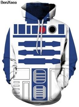 STAR WARS R2D2 - 3D STREET WEAR HOODIE Hip Hop Hooded Sweatshirt
