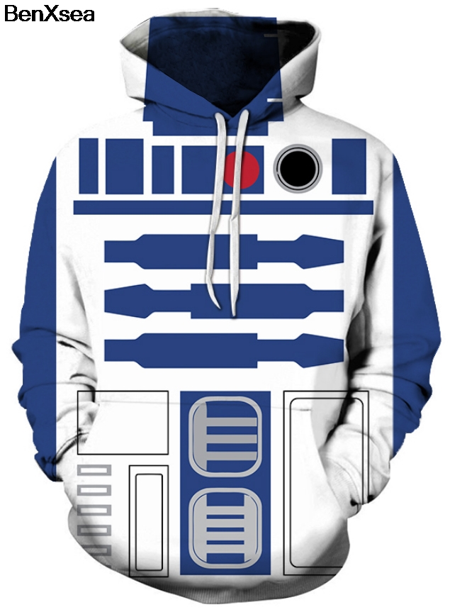 STAR WARS R2D2 - 3D STREET WEAR HOODIE Hip Hop Hooded Sweatshirt
