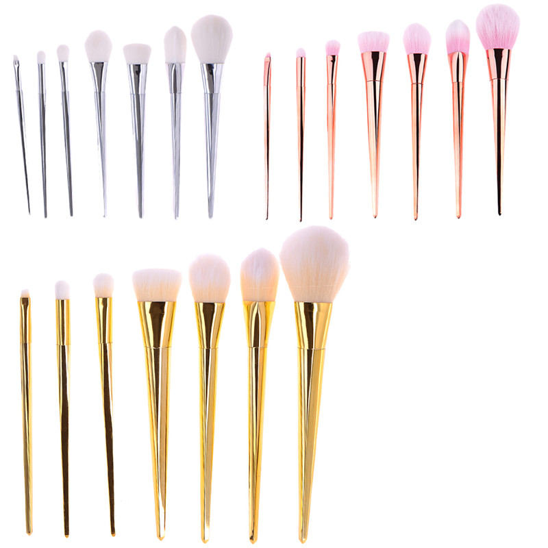 7pcs Portable Make up Brushes Cometic Powder Foundation Eyeshadow Lipstik Face Facial Makeup Brush Pinceis de