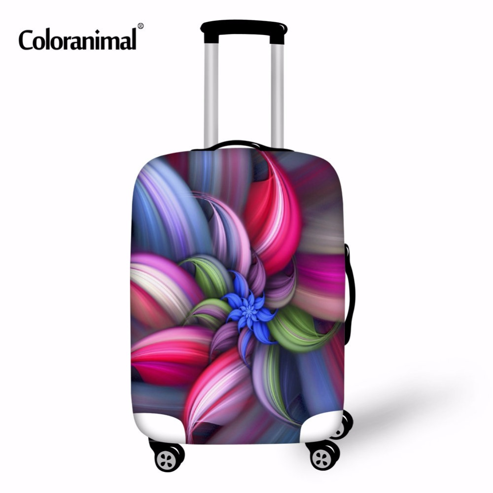 Coloranimal 3D Flower Travel Luggage Protective Cover For 18-30 Inch Trolley Suitcase Elastic Trunk Case Dust Covers With Zipper
