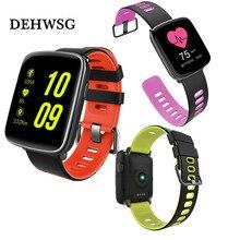 2018 mais novo relógio inteligente tela de 1.54 polegada cor smartwatch relógio inteligente sensor de freqüência cardíaca preciso IP68 à prova d' água Para ios Android