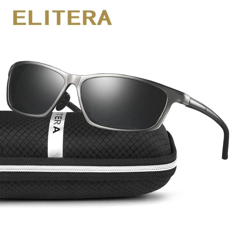 ELITERA New Aluminum Men's Sunglasses High Quality Polarized UV400 Driving Sports Male Sun Glasses For Men Women Eyewear