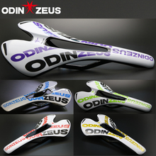 цена на ODINZEUS 2019 Hot Sale Top-level 3K Gloss or Matte Full Carbon fibre Mountain Bicycle Saddle Road/MTB Bike Carbon Saddle Seat