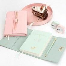 사랑스러운 포켓 크기 42 k 소녀 일기 플래너 노트북 새로운 선물 컬러 마카롱 노트북 펜 편지지 선물