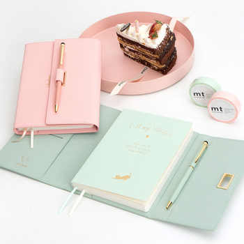 Lovely Pocket Size 42K Girl Diary Planner Notebook New Gifts Color Macaron Notebook with Pens Stationery Gifts - DISCOUNT ITEM  10 OFF Education & Office Supplies