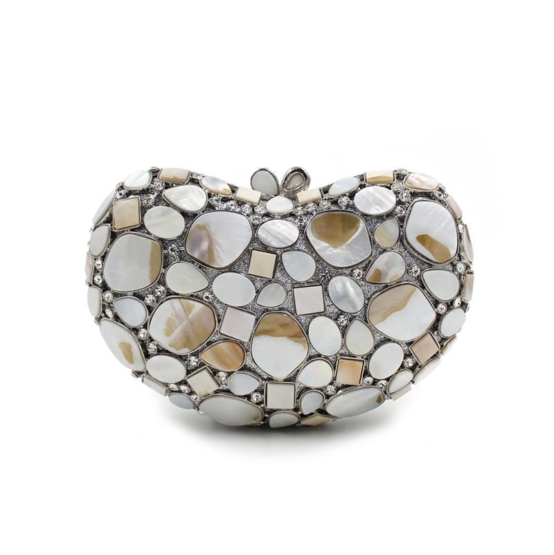 Diamants Embrayages Minaudière Blanc Smyzh D'embrayage bags Gris Sacs Femelle Coquille Partie Dames Noir bags Main À Femmes Bags Sac e0117 vw7qP1tZ
