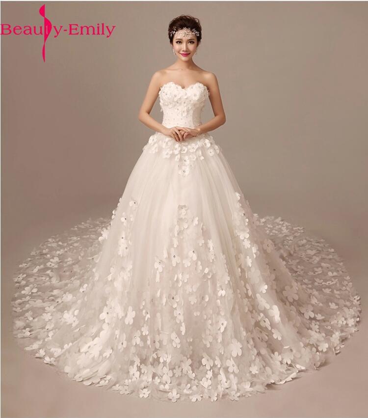 Beautiful Flowers For Weddings: Fashinable Beautiful Appliques Wedding Dresses Luxury
