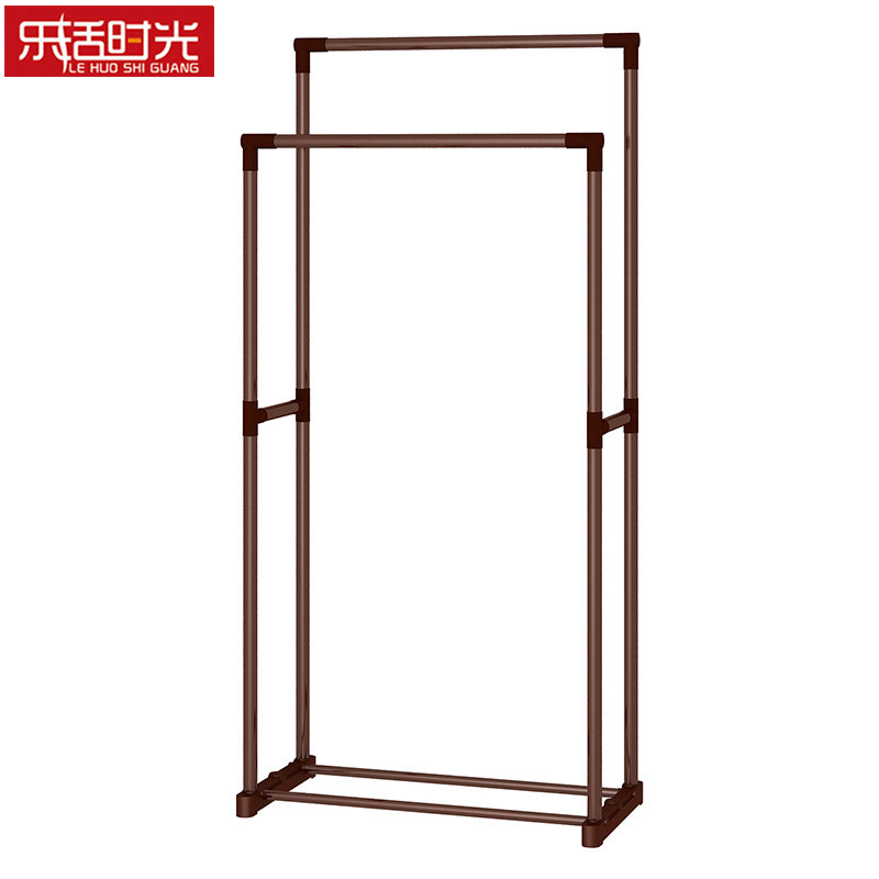 Coat rack 19MM bold Double Pole Metal Floored Drying Rack Household bedroom living room Balcony Clothes Hanging Rack free ship gou matsuoka long wine red women style anime cosplay wig one ponytail 370f