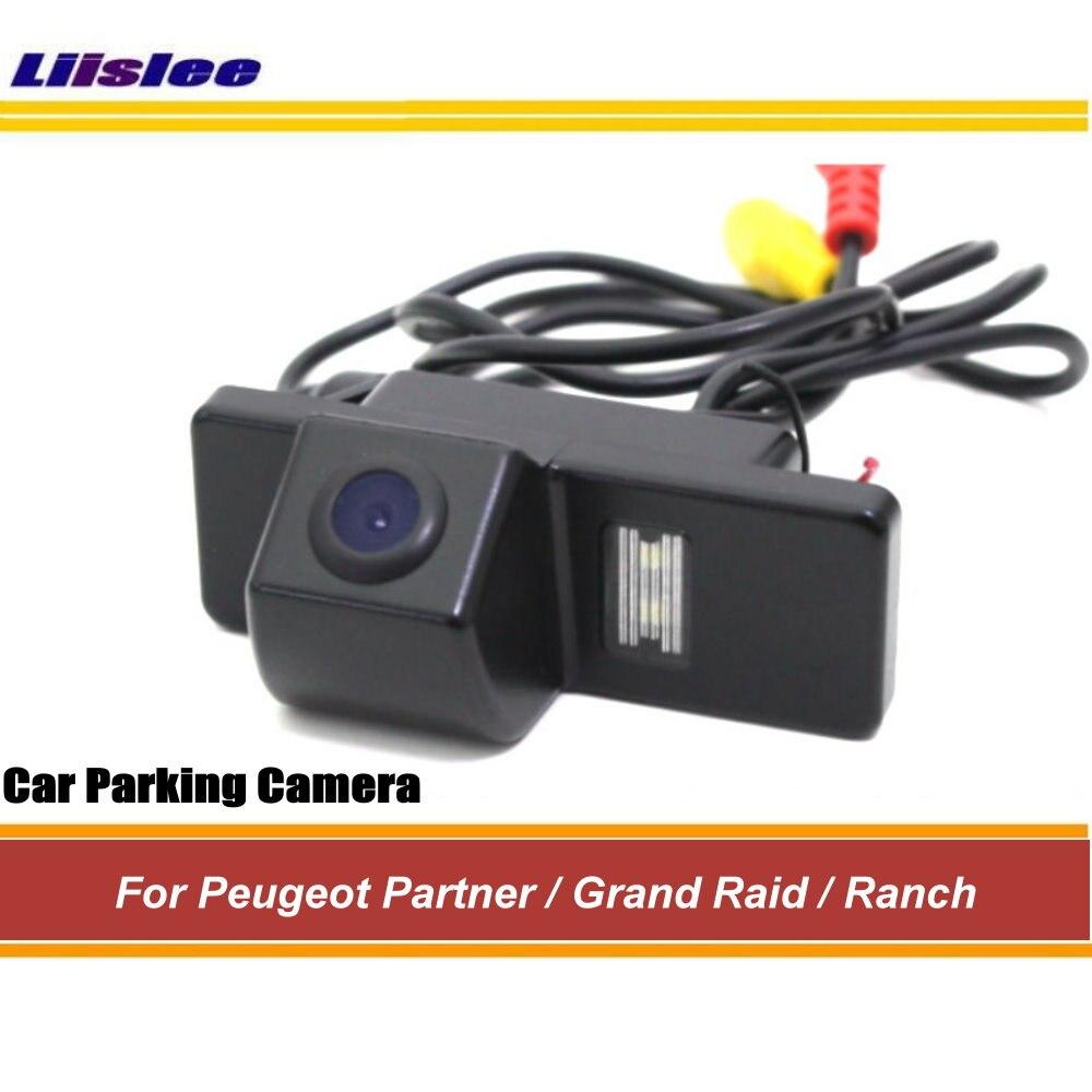 Liislee Caméra de Vue Arrière Pour Peugeot Partner/Grand Raid/Ranch Sauvegardez Caméra de Stationnement/D'EXCENTRIQUE Intégré/ vision Nocturne CCD