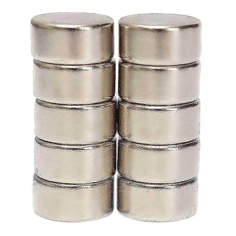 10Pcs N52 10Mm X 5Mm Super Kuat Silinder Bulat Langka Bumi Neodymium Magnet Kulkas Magnet
