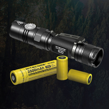 TOPSALE NITECORE EC22 18650 Rechargeable Battery Infinitely Variable Brightness Flashlight Waterproof Outdoor Camp Hiking Torch