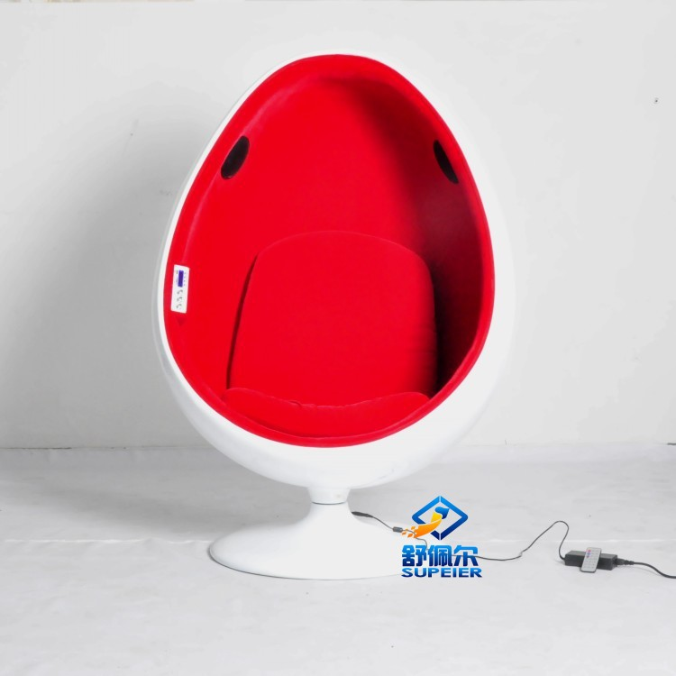 Supeier designer furniture ball egg chair with audio fiberglass swivel leisure living chair in - Fiberglass egg chair ...