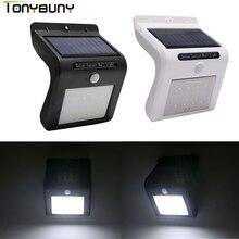 Solar Power PIR Motion Sensor Wall Light LED Outdoor Energy Saving Led Wall lamp Yard  Sconce Garden Security Decorative light