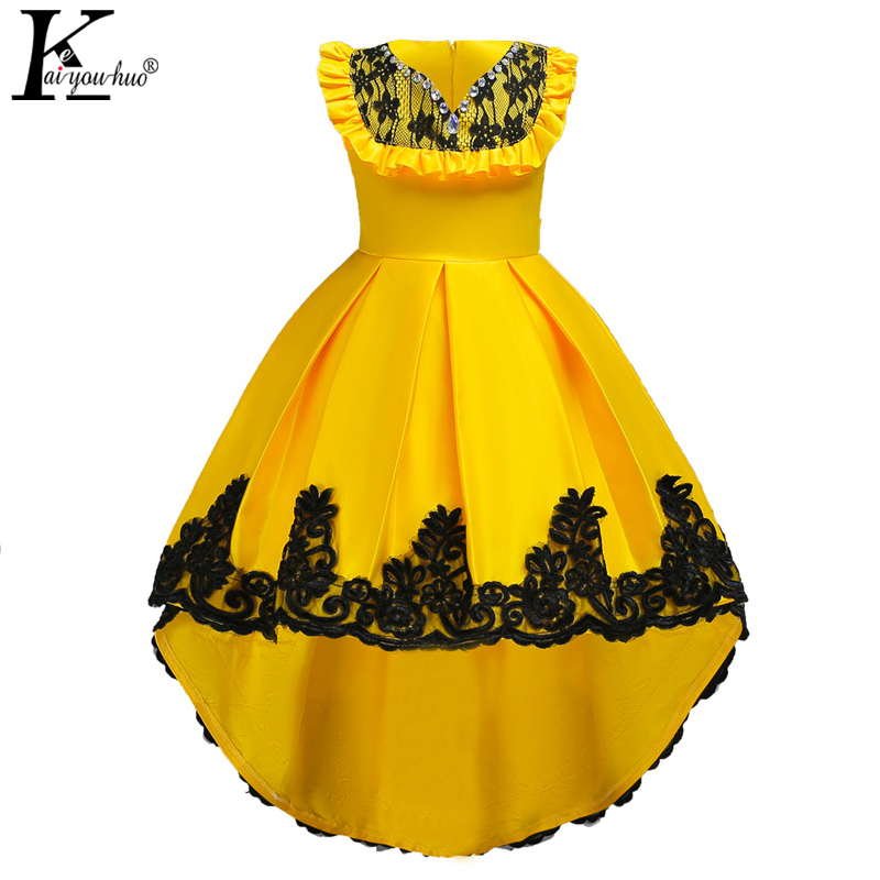 Summer Kids Dresses For Girls Clothes Teenager Wedding Dress Elegant For 3 4 5 6 7 8 9 10 11 12 13 14 Years Girls Princess Dress the girl new korean pink princess dress summer for size 4 5 6 7 8 9 10 11 12 13 14 years child wedding tutu dress