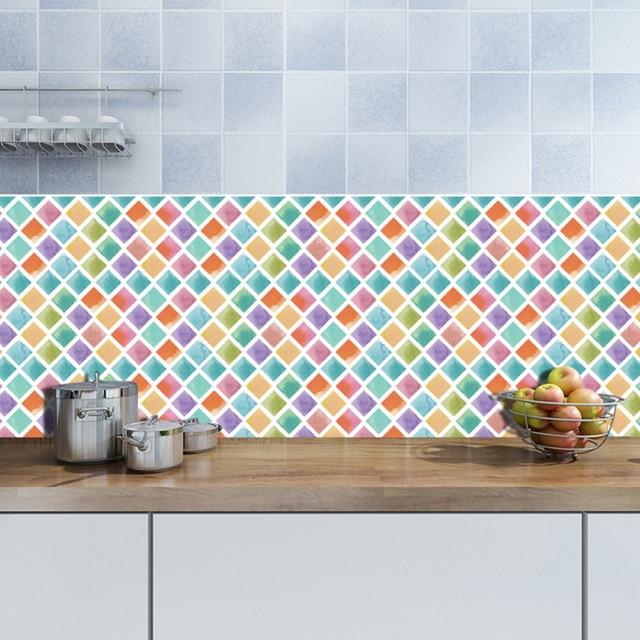 500x20 cm Colorato Mosaico FAI DA TE Adesivi per Piastrelle Cucina Bagno  Smontabile Autoadesivo Della Parete Sticker Home Decor Art Decalcomanie  della ...