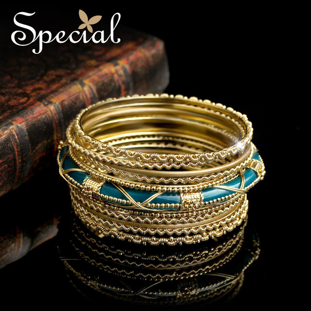 Special New Fashion Bracelets amp& Bangles Gold and White Indian Bracelet Multi-layer Jewellry Gifts for Girls Women SZ150721