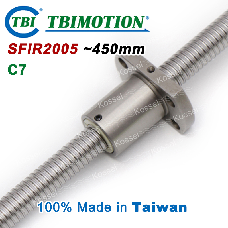 TBI 2005 C7 450mm ball screw with SFI2005 5mm lead screws nut of SFI set end machined for high precision CNC kit горелка tbi 240 5 м esg