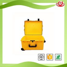Tricases factory Customized logo low price hard plastic trolley toolbox with wheels and handle and foam M2750