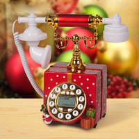Good arts, retro telephone, creative European telephone, garden gift box, resin antique telephone Landline art gift craft