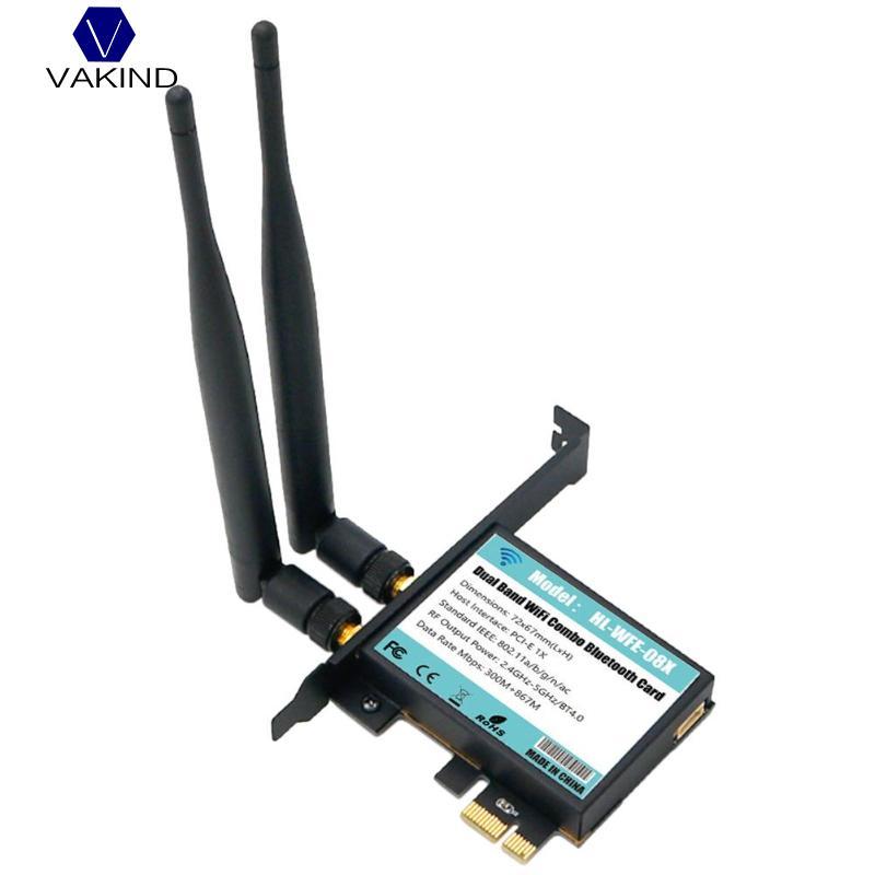 VAKIND Double Bande WiFi 802.11A/B/G/N/AC + Bluetooth4.0 802.11AC Carte PCB Adaptateur