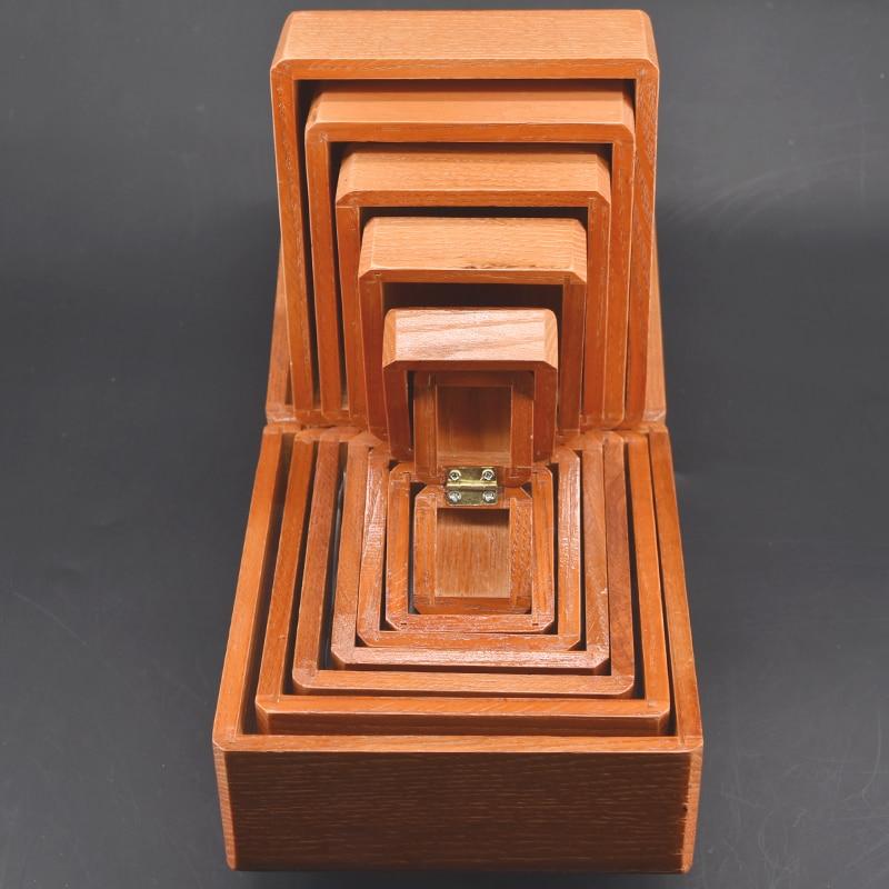 Nid de boîtes-tours de Magie en bois objet disparu apparaissant dans la boîte Magie scène Illusion Gimmick accessoires drôle mentalisme - 4