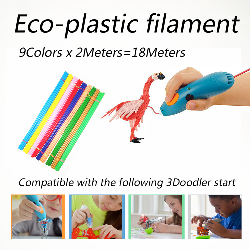 Safety and Environmental protection Apply to 3Doodler start Pen Low temperature PCL 3D Print Filament 2M