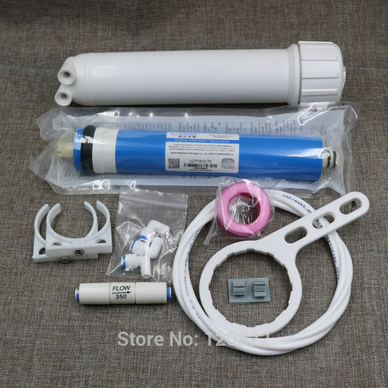 Free Shipping 75gpd Vontron RO Membrane 1812 RO Membrane Housing Reverse Osmosis Water Filter System Parts