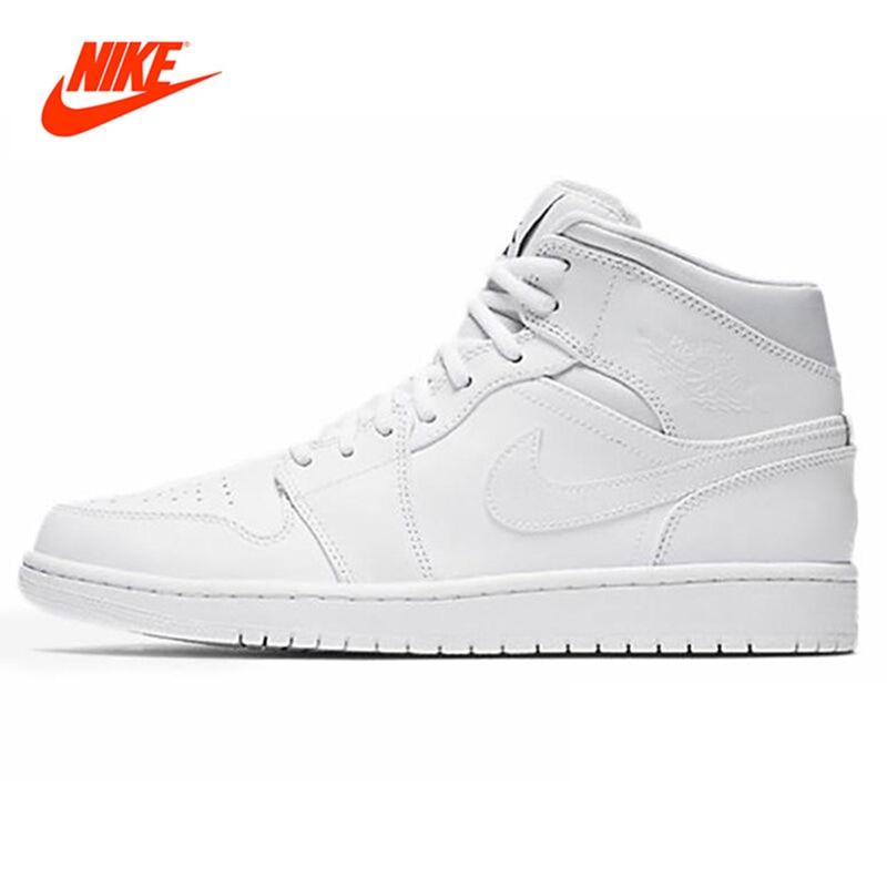 Original New Arrival NIKE Men's High Top Lightest Leather Basketball Shoes Sneakers original li ning men professional basketball shoes