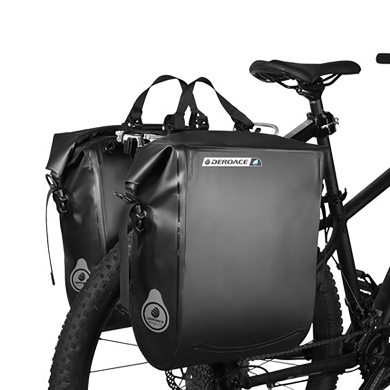 Waterproof Bicycle Bag Portable MTB Bike Bag Bicycle Pack Rear Pannier Cycling Rear Seat Tail Bag Bike Accessories 20L roswheel 20l multifunctional waterproof bicycle bag black pvc cycling trunk rear tail pack bag riding bike bicycle storage bag