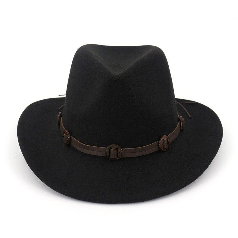 Estrella con lana párrafo corto sombrero de ala plana ocio homburg joker  sol sombreros para hombres ac2fc0fbe26