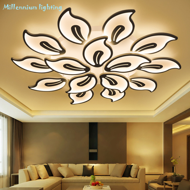 LED chandelier living room bedroom dining Study room light Acrylic led Chandelier lamp fixtures Dimming Home Decor Free shipping