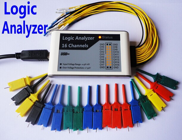 USB Logic Analyzer 100M max sample rate,16Channels,10B samples, MCU,ARM,FPGA debug tool fuzzy logic speed controllers using fpga technique