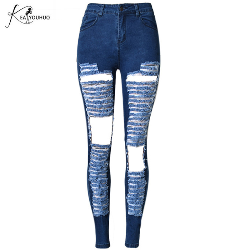 New Summer Womens Jeans Boyfriends Denim Pants Mid Waist Loose Trousers Female Ladies Ripped Jeans For Women Hole Vagrant Jeans female boyfriends vintage mom jeans woman rivets high waist jeans women plus size loose jeans womens pants denim womens quality