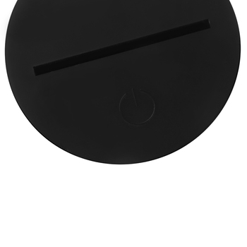 3D Night Light LED Lamp Acrylic Alarm Clock Showpiece 2