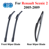 Wiper Blade For Renault Scenic 2 2005 2006 2007 2008 2009 Rubber Front And Rear Windscreen
