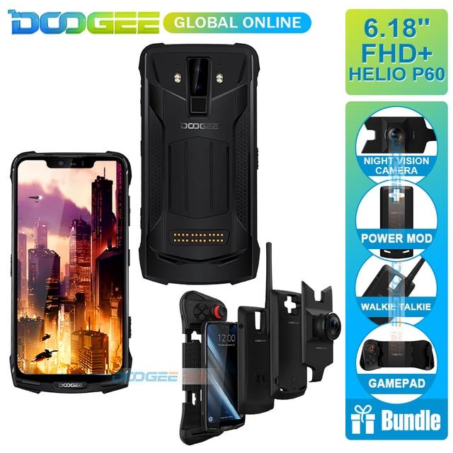Ban đầu IP68/IP69K DOOGEE S90 siêu Chống Thấm chống sốc 5050 mAh 6.18 ''MT6671 Helio P60 6 GB 128 GB điện thoại thông minh 16MP Máy Ảnh