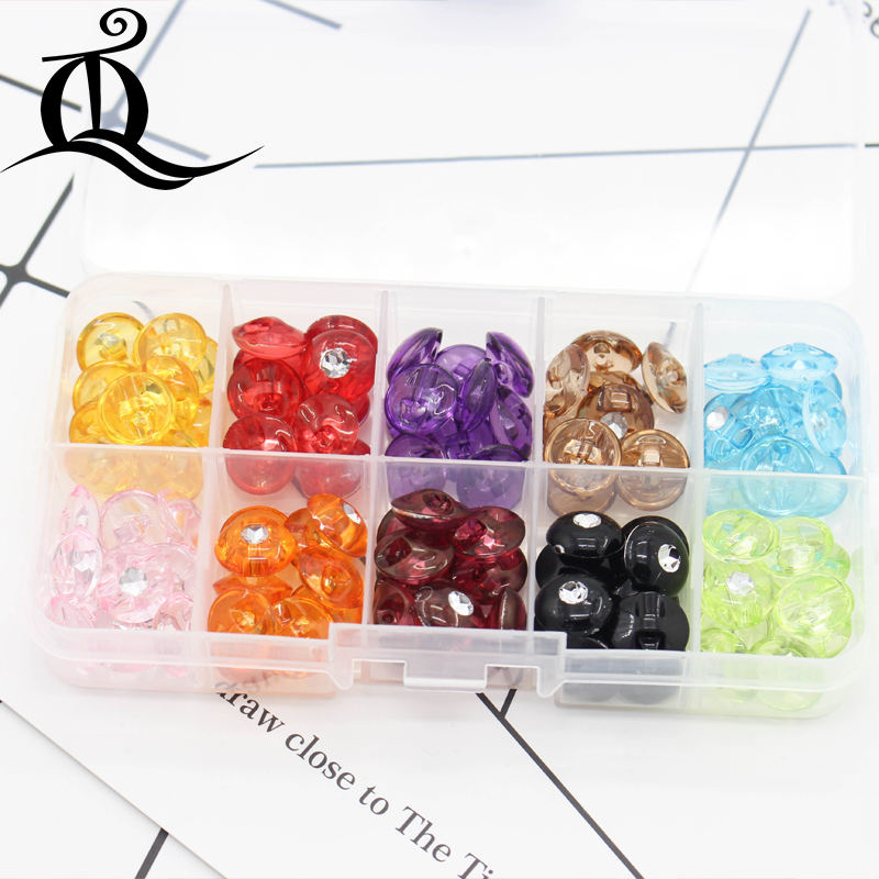 150PCS 12MM mix with box Acrylic buttons coat boots sewing clothes accessories,resin button DIY KIDS clothes accessory,078