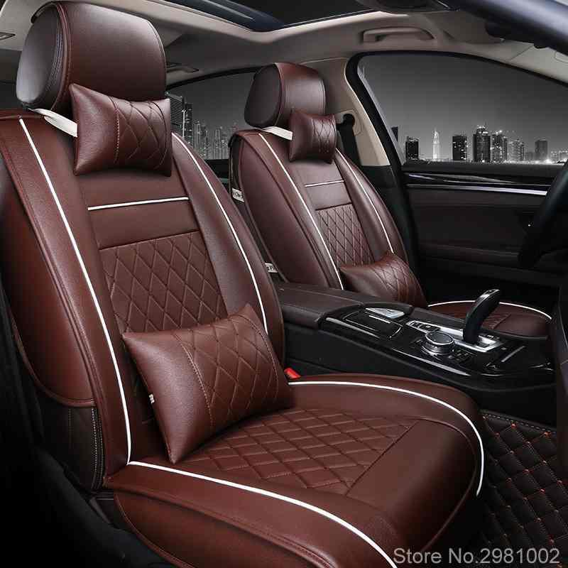1 Set housses de siège auto en cuir synthétique polyuréthane pour Skoda Octavia Fabia superbe Rapid Yeti Spaceback Joyste Jeti accessoires auto autocollant de voiture