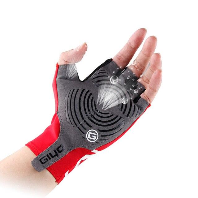 Giyo luvas de ciclismo metade do dedo gel esportes corrida bicicleta luvas de verão dos homens das mulheres estrada mtb luva guantes 3