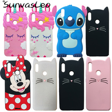 For Huawei Y7 2019 / Prime  Pro 3D Soft Silicone Case Cute Cartoon Animal Cell Phone Back Cover Shell Skin