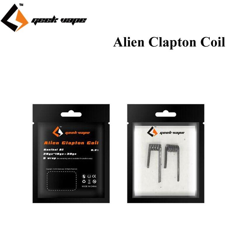 Original geekvape Staple Staggered fused clapton coil 0.2ohm Prebuilt Coils  (24ga + 32ga)x2  32ga x 20ga } + 34ga  KA1 Wire