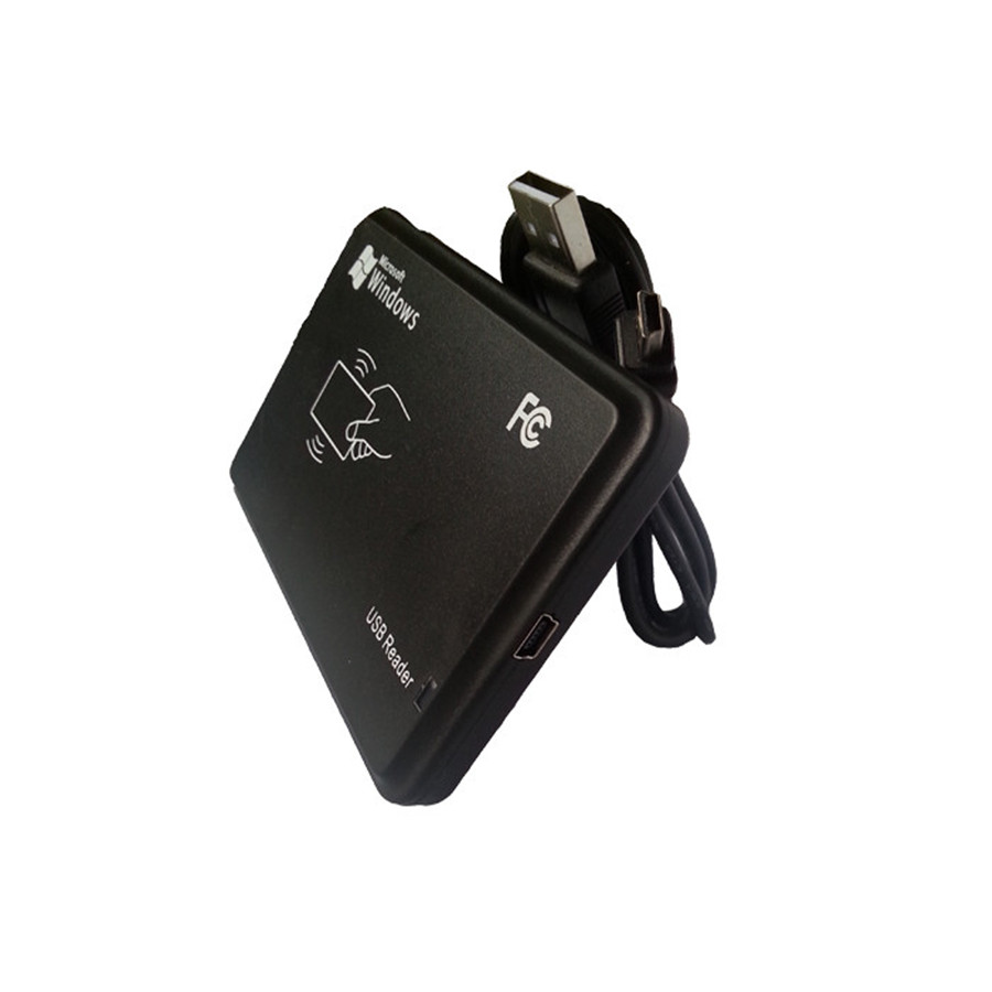 125KHz RFID ID EM4100 EM4305 T5577 Card USB Reader/Writer/Copier/Programmer FREE Rewritable Keyfob Copy ISO with 10pcs Keytags