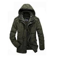 Military parka men thickening warm detachable wool liner Winter jackets mens brand AFS JEEP jacket coat mens fur parka 1358