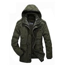 Военная парка для мужчин утолщение теплый съемный шерстяной вкладыш зимние куртки s БРЕНД AFS джип куртка пальто S Мех животных парка 1358