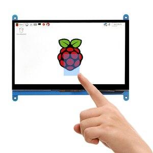 Image 1 - New 7 inch USB HDMI LCD Màn Hình Hiển Thị 1024x600 Điện Dung Màn Hình Cảm Ứng Cho Raspberry Pi 3 B +