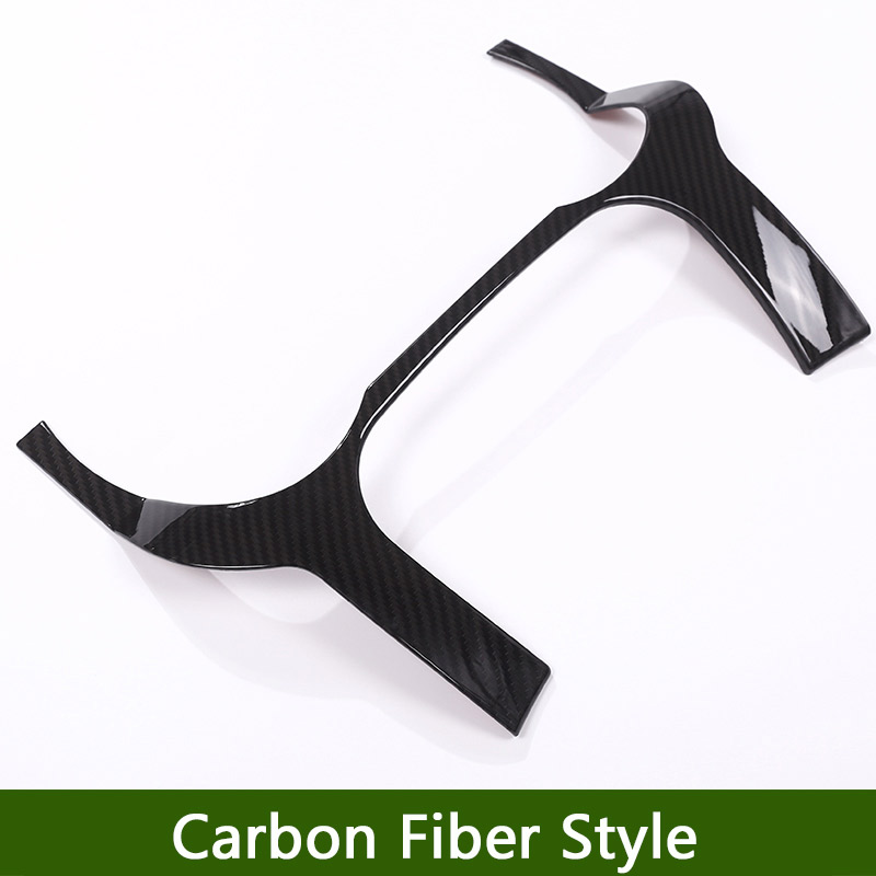Carbon Fiber Style ABS Plastic For Landrover Range Rover Evoque 12 17 Dashboard Decoration Frame Cover Trim For LHD