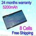JIGU 8 Клеток ноутбук taptop для Acer 3UR18650Y BATBL50L6 BT.00404.008 4UR18650F BATBL50L8H BT.00405.006 BT.00803.015 CGR-B/6F1